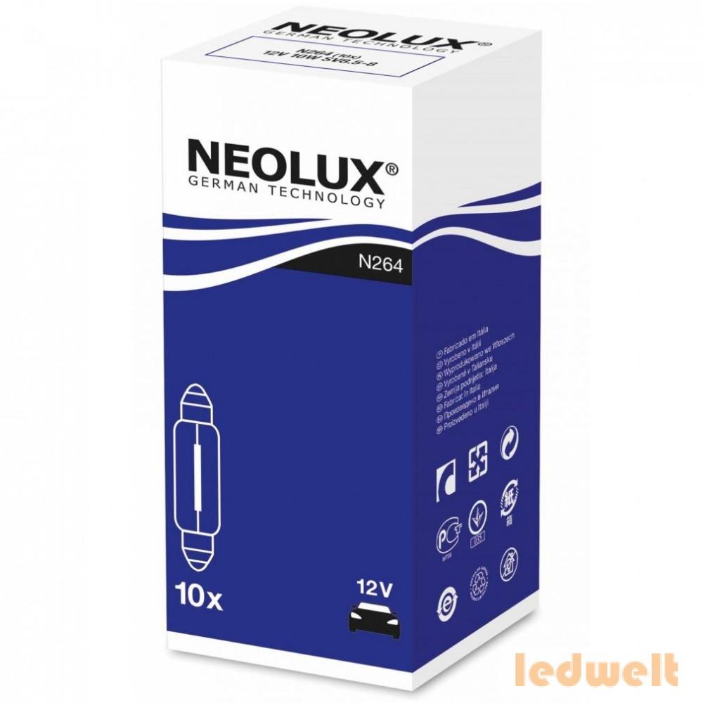 Neolux Standard N264 C10W 12V 41mm szofita izzó 10db/csomag