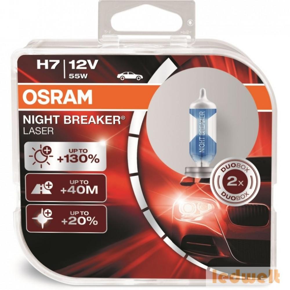 Osram Night Breaker Laser 64210NBL-HCB 55W H7 +130% 2db/csomag