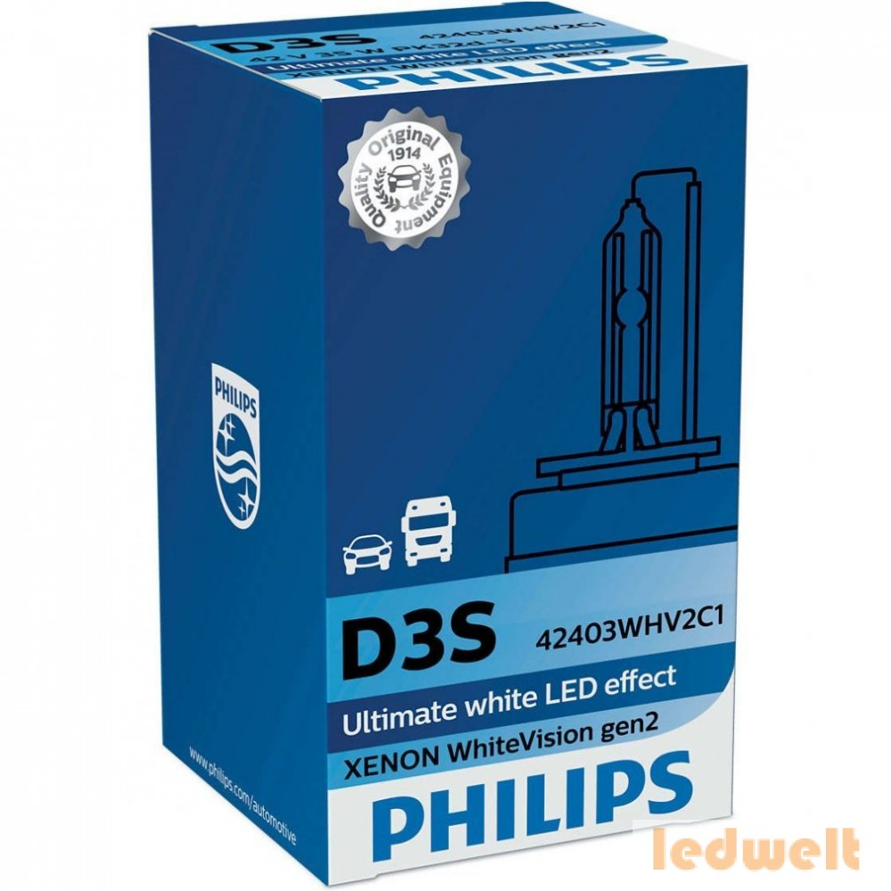 Philips D3S WhiteVision +120% 42403WHV2C1 xenon lámpa