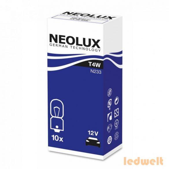 Neolux Standard N233 T4W 12V jelzőizzó 10db/csomag
