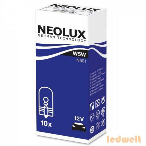 Neolux N501 W5W izzó 12V 10db/csomag