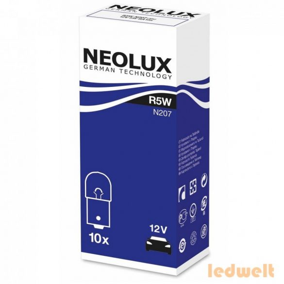 Neolux Standard N207 R5W 12V BA15s jelzőizzó 10db/csomag