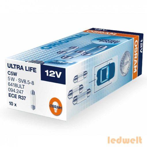 Osram Ultra Life 6418ULT C5W jelzőizzó 10db/csomag