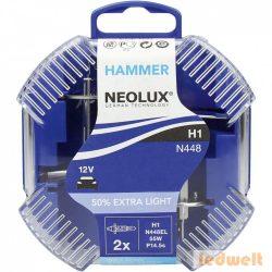 Neolux Extra Light N448EL H1 izzó 12V +50% 2db/csomag
