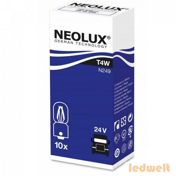 Neolux N249 T4W 24V jelzőizzó 10db/csomag