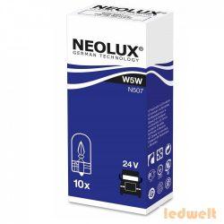 Neolux N507 W5W 24V műszerfal izzó 10db/csomag