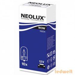 Neolux N504 W3W 12V műszerfal izzó 10db/csomag