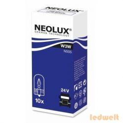 Neolux N505 W3W izzó 24V műszerfal izzó 10db/csomag
