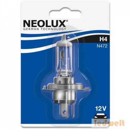 Neolux Standard N472 H4 izzó 12V P43t bliszter