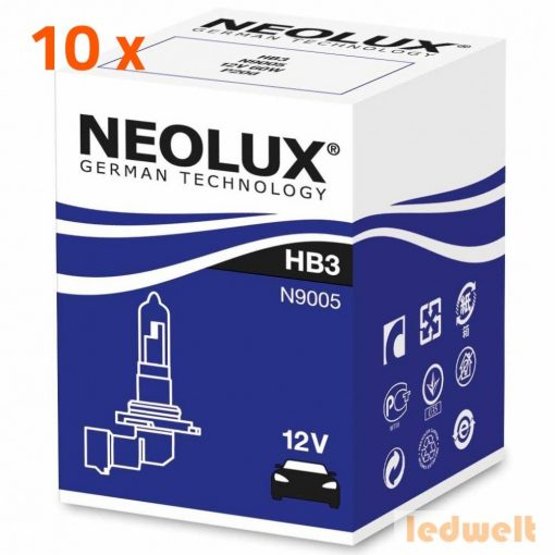 Neolux Standard N9005 HB3 izzó 12V 10db/csomag