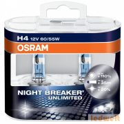 Osram Night Breaker Unlimited 64193NBU H4 izzó +110% 60/55W 2db/csomag