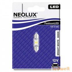 Neolux NF3160 0,5W 12V 6000K 31mm szofita LED jelzőizzó bliszter