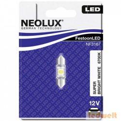 Neolux NF3167 0,5W 12V 6700K 31mm szofita LED jelzőizzó bliszter