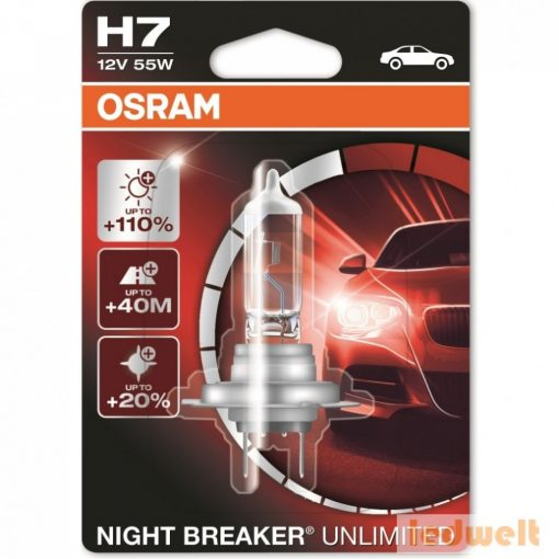 Osram Night Breaker Unlimited 64210NBU H7 izzó +110% izzó bliszter