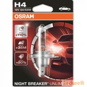 Osram Night Breaker Unlimited 64193NBU H4 izzó +110% bliszter