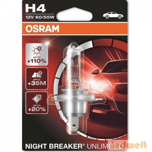 Osram Night Breaker Unlimited 64193NBU H4 izzó +110% bliszter