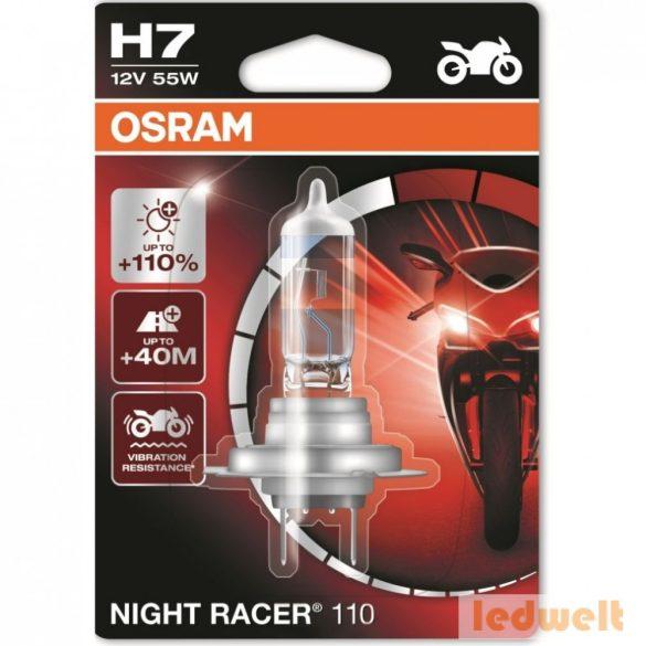 Osram Night Racer 110 64210NR1-01B H7 izzó +110% bliszter