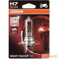 Osram Night Racer 50 64210NR5-01B H7 izzó +50% bliszter