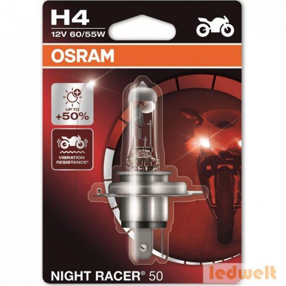 Osram Night Racer 50 64193NR5-01B H4 izzó +50% bliszter