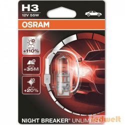 Osram Night Breaker Unlimited 64151NBU H3 +110% izzó bliszter