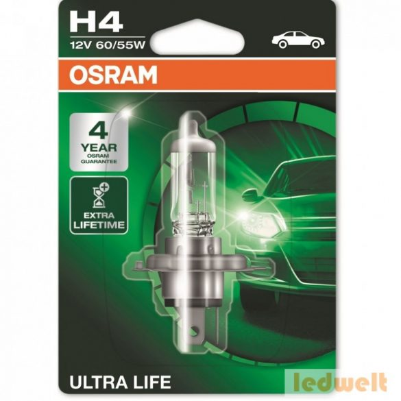 Osram Ultra Life 64193ULT-01B H4 izzó bliszter