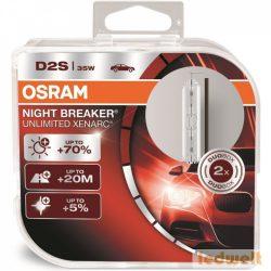 Osram Xenarc Night Breaker Unlimited 66240XNB D2S xenon izzó +70% - 1 év garancia 2db/csomag