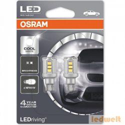 Osram LEDriving Standard 9212CW-02B W2,1x9,5d Cool White W16W izzó (921) 2db/bliszter