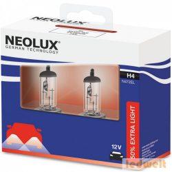 Neolux N472EL-SCB Extra Light H4 izzó +50% 2db/csomag