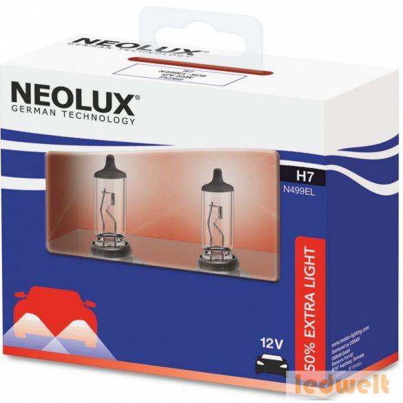 Neolux Extra Light N499EL-SCB H7 izzó 12V +50% 2db/csomag