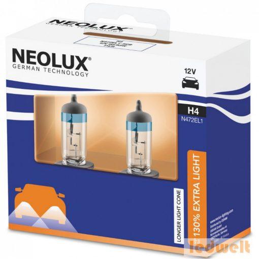Neolux N472EL1-2SCB H4 izzó Extra Light 130% Duo Box
