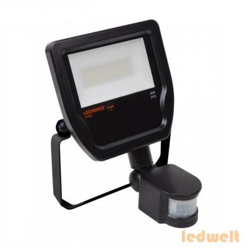 LEDVANCE Floodlight LED Sensor 20W 1900lm 3000K IP65 fekete led reflektor