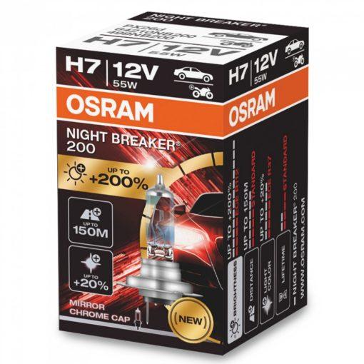 Osram Night Breaker H7 izzó +200% dobozos 1darabos