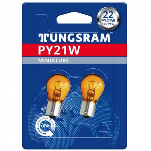Tungsram Original 1056 PY21W izzó sárga jelzőizzó 2db/bliszter 93088263