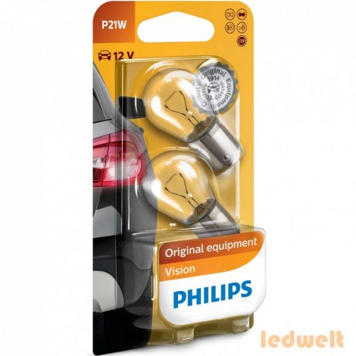Philips P21W Original Vision +30% 12498B2 2db/csomag