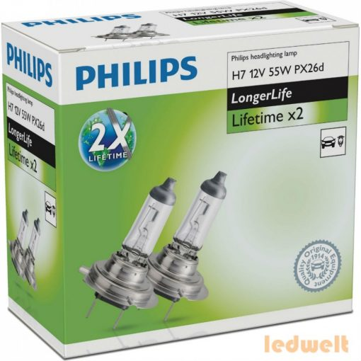 Philips LongerLife H7 izzó 12972ELC2 2db/csomag