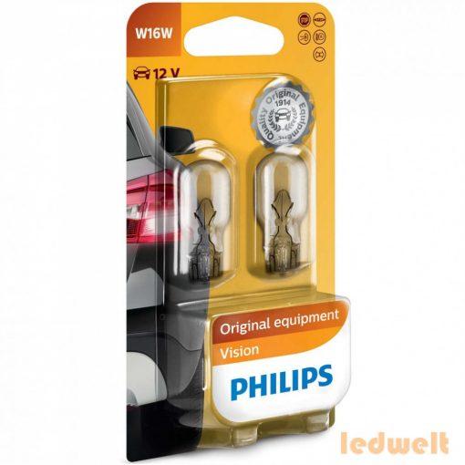 Philips Original Vision +30% 12067B2 W16W izzó 12V jelzőizzó 2db/bliszter