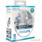Philips H7 WhiteVision +60% 4300K 12972WHVSM 2db/csomag
