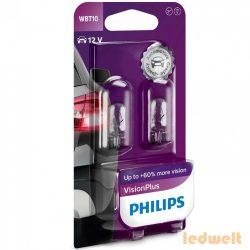 Philips W5W Vision Plus +60% 12040VPB2 2db/csomag