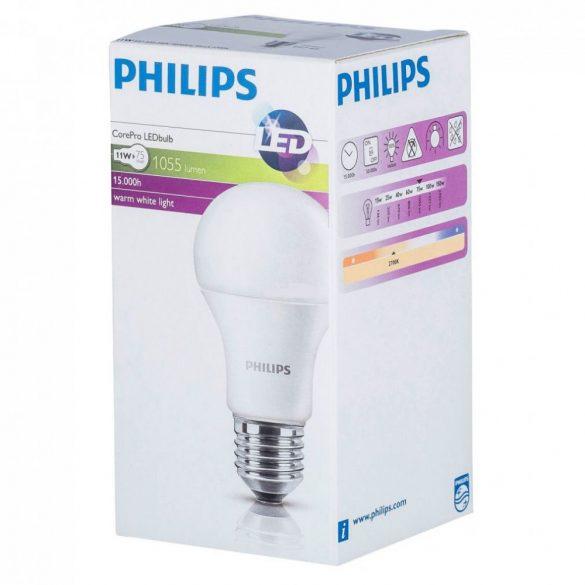 PHILIPS CorePro LED körte 230V 11W = 75W 1055Lm E27 827