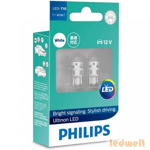 Philips Ultinon LED 360° W5W izzó 6000K 2db/bliszter