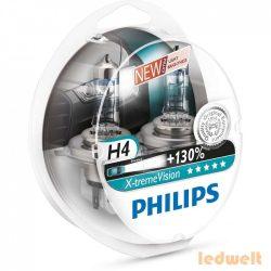 PHILIPS X-tremeVision +130% H4 izzó 60/55W 12342XV+S2 2db/csomag