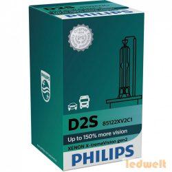 Philips D2S X-tremeVision gen2 +150% 85122XV2C1 xenon izzó