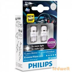 Philips X-treme Vision LED 360° W5W 6000K 2db/bliszter