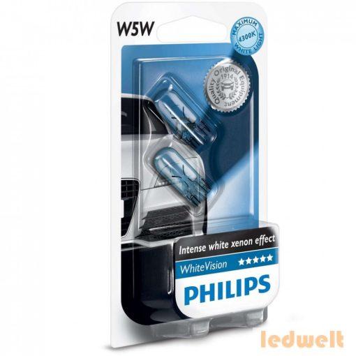 Philips WhiteVision W5W izzó 12961NBVB2 2db/csomag