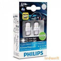 Philips X-treme Vision LED 360° W5W 4000K 2db/bliszter