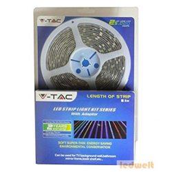 RGB LED szalag szett beltéri: 5 méter RGB+vezérlő+tápegység 5050-60