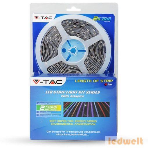 RGB LED szalag SMD5050 - 30 LEDs 5 méter Vízálló /szilikon/